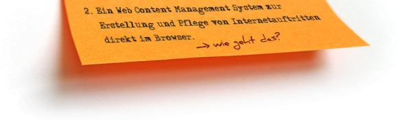 2. Ein Web Content Management System zur Erstellung und Pflege von Internetauftritten direkt im Browser.